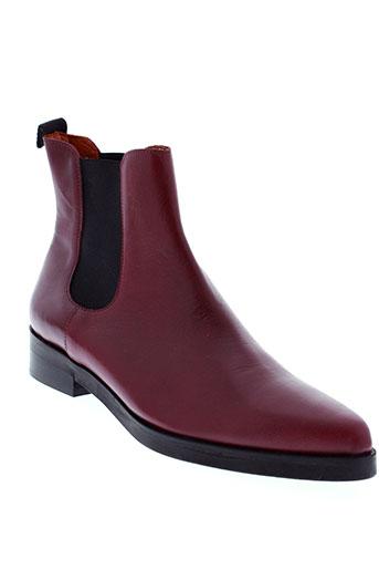 elizabeth et stuart boots femme de couleur rouge