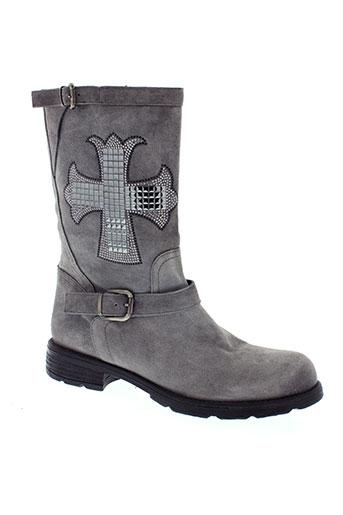 now chaussures femme de couleur gris