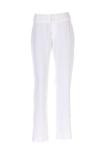 eva kayan pantalons femme de couleur blanc