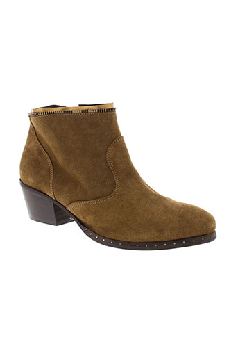 alain et bastiani boots femme de couleur marron