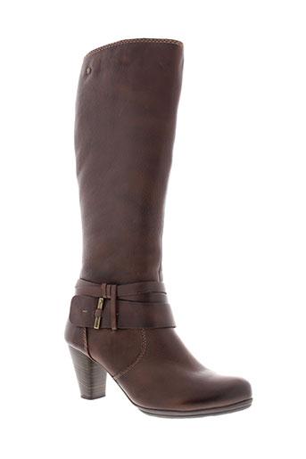 pikolinos bottes femme de couleur marron