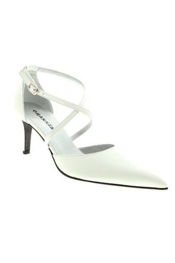 ohannes escarpins femme de couleur blanc