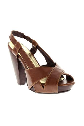too much chaussures femme de couleur marron