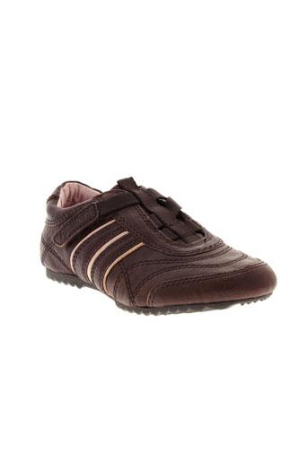 palladium chaussures fille de couleur marron