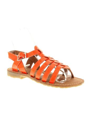 valentine et la et coquine sandales et nu et pieds fille de couleur orange