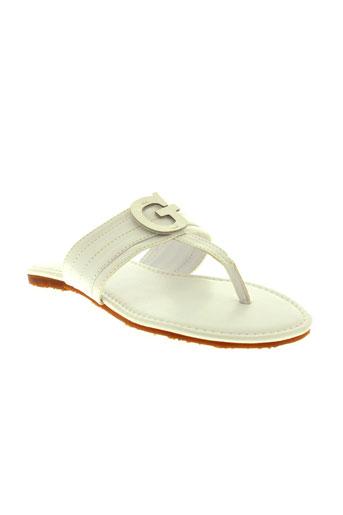 guess chaussures fille de couleur blanc