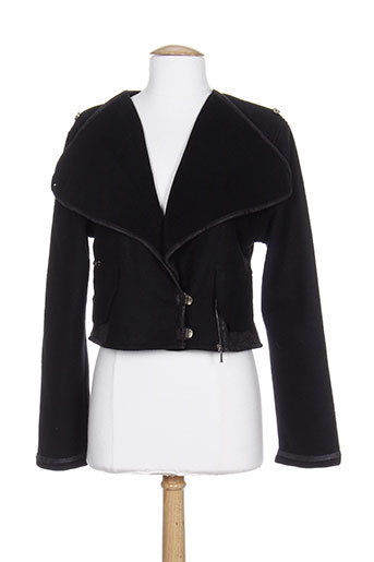 Veste casual noir CATY LESCA pour femme