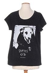 T-shirt manches courtes noir ELEVEN PARIS pour homme seconde vue