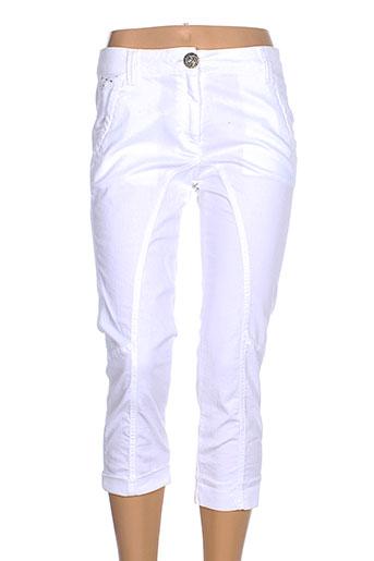 elisa et cavaletti pantacourts et decontractes femme de couleur blanc
