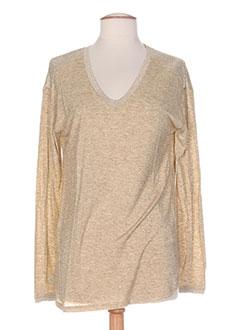 T-shirt manches longues beige AMS PURE pour femme