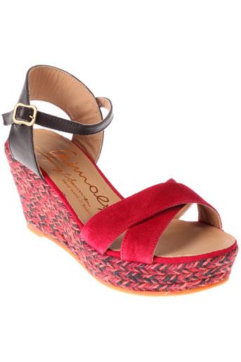 gaimo espadrilles chaussures femme de couleur rose