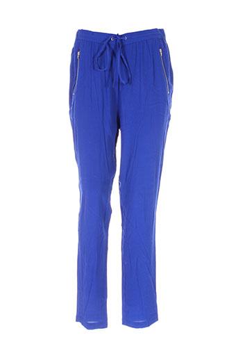 yerse pantalons et decontractes femme de couleur bleu