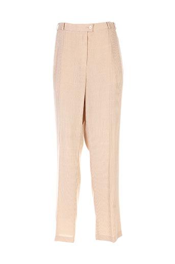 marcona pantalons femme de couleur beige