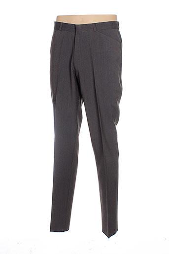 manoukian pantalons homme de couleur marron