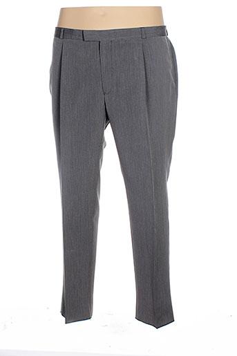 manoukian pantalons homme de couleur gris