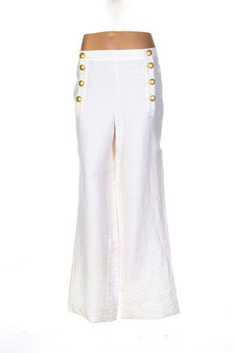 sessun pantalons femme de couleur beige