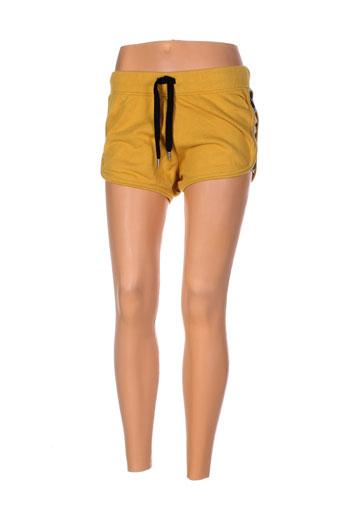 minority shorts / bermudas femme de couleur jaune