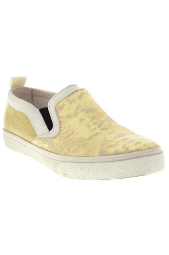 crime chaussures femme de couleur jaune