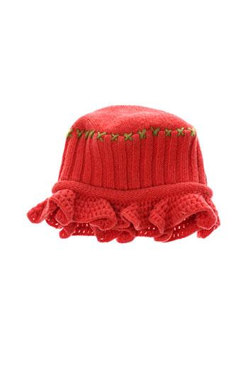 eliane et et et lena chapeaux et bonnets fille de couleur rouge
