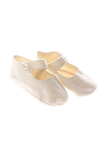 ikks chaussons enfant de couleur beige