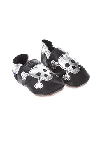 inch et blue chaussons enfant de couleur noir