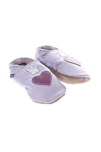inch et blue chaussons fille de couleur violet