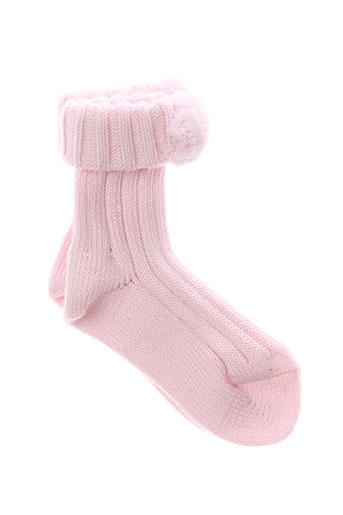 Chaussettes rose TAILLE 0 pour fille