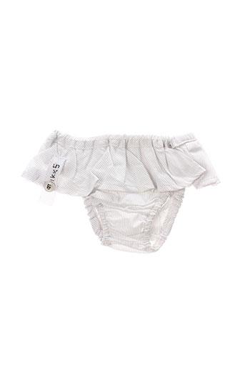 Bas de maillot de bain blanc IKKS pour fille