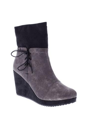 les et p et tites et bombes boots femme de couleur gris