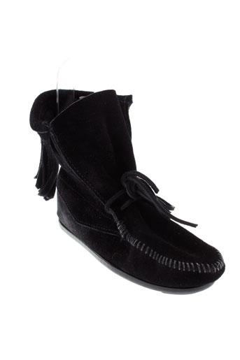 minnetonka boots fille de couleur noir