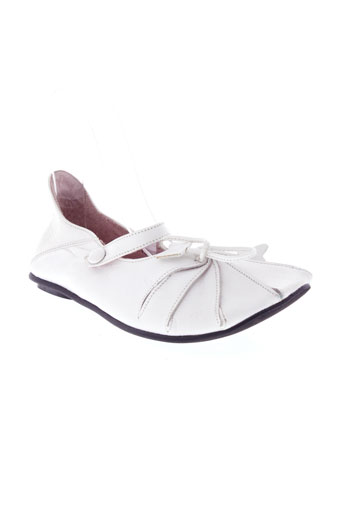 bill et tornade ballerines fille de couleur blanc
