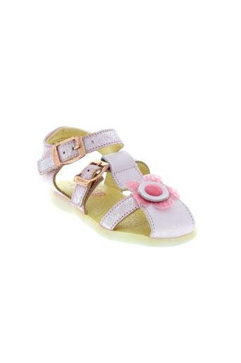 tekilou sandales et nu et pieds fille de couleur rose