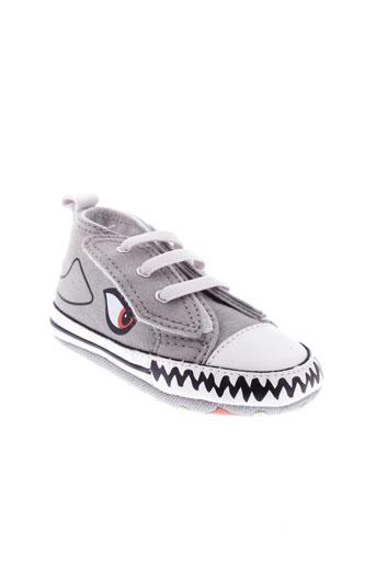 converse chaussures garçon de couleur gris
