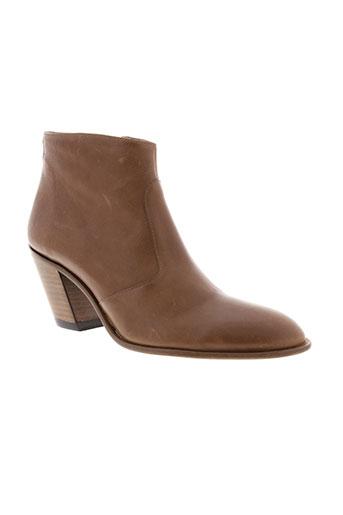 free et lance boots femme de couleur marron