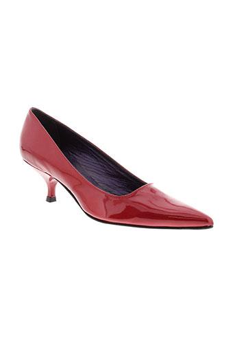 parallele chaussures femme de couleur rouge