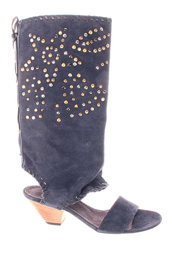 vero cuio chaussures femme de couleur bleu