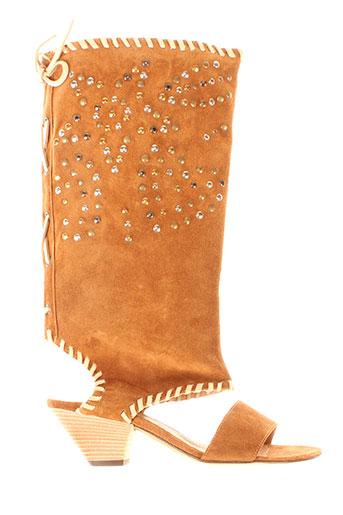 Sandales/Nu pieds marron VERO CUIO pour femme
