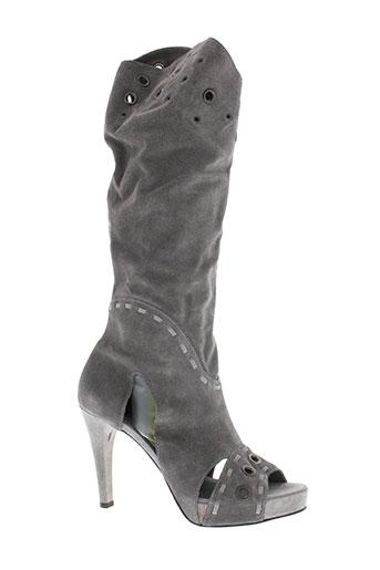 Sandales/Nu pieds gris V M pour femme
