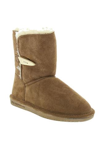 bearpaw bottes fille de couleur marron