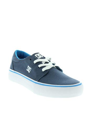dc chaussures femme de couleur bleu