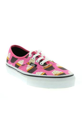 vans chaussures fille de couleur rose
