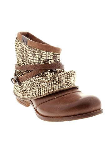 bunker boots femme de couleur marron