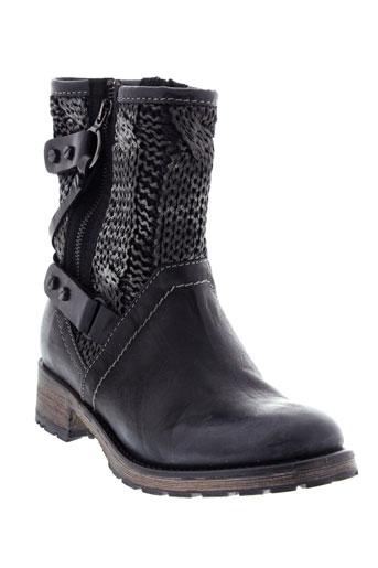 pataugas boots femme de couleur noir
