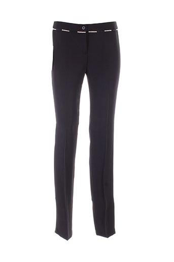 benetton pantalons femme de couleur noir