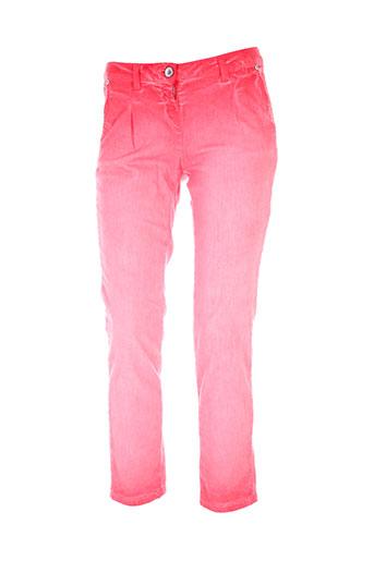 sisley pantalons femme de couleur rouge