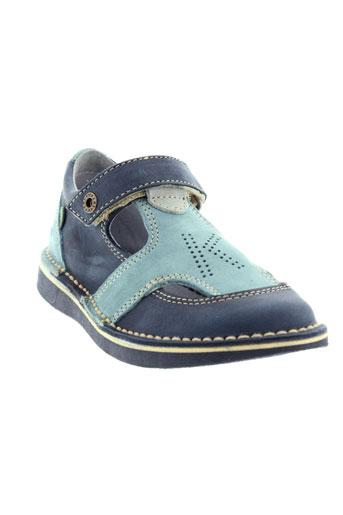 kickers chaussures enfant de couleur bleu