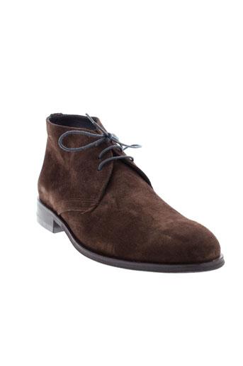 fluchos boots homme de couleur marron