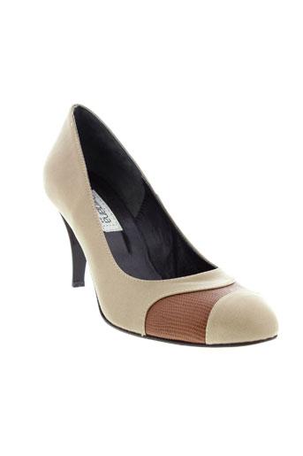 pargiana chaussures femme de couleur beige