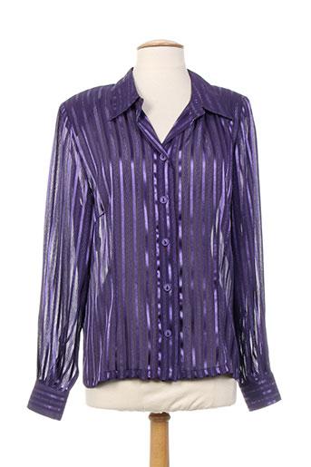 sodrap chemises femme de couleur violet