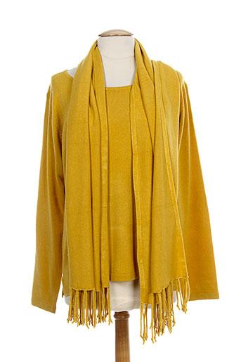 cpm pulls femme de couleur jaune